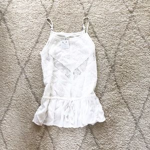 White lace tank top